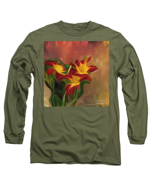 Trio Of Day Lilies Long Sleeve T-Shirt