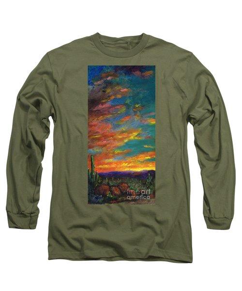 Triptych 1 Desert Sunset Long Sleeve T-Shirt