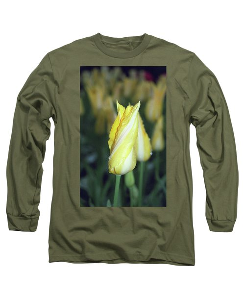Twisted Yellow Tulip Long Sleeve T-Shirt
