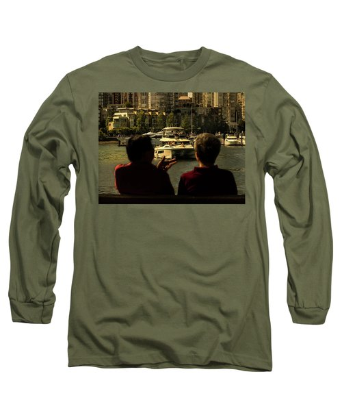 Two Friends At The Vancouver Bay Long Sleeve T-Shirt