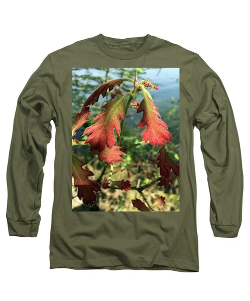 Velvet New Oak Leaves Long Sleeve T-Shirt