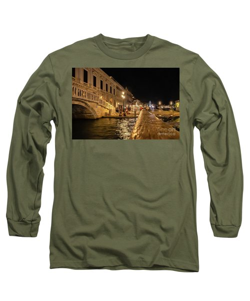 Venice At Night. San Marco Long Sleeve T-Shirt