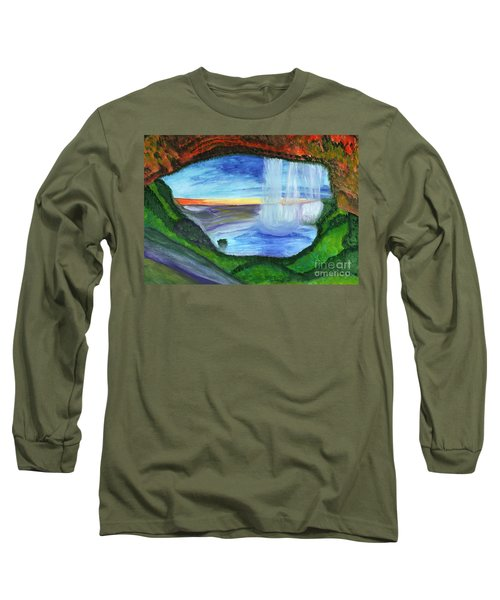 View From The Cave To The Waterfall Long Sleeve T-Shirt