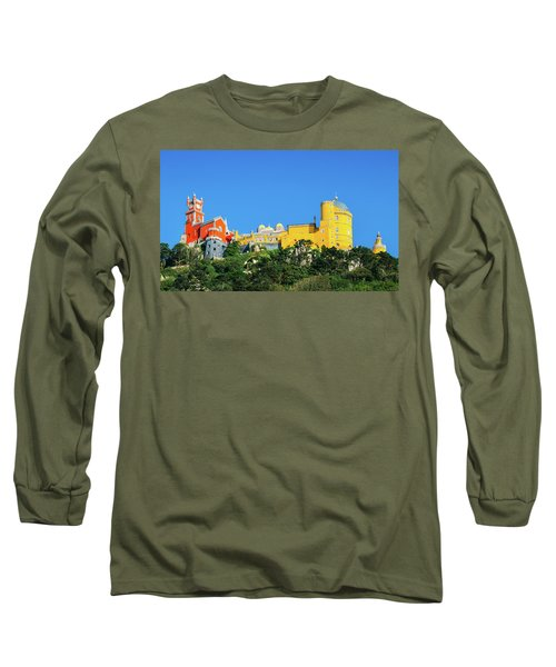 View Of Pena National Palace, Sintra, Portugal, Europe Long Sleeve T-Shirt
