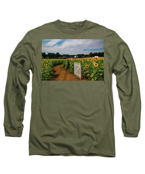 Walk Through The Sunflowers Long Sleeve T-Shirt