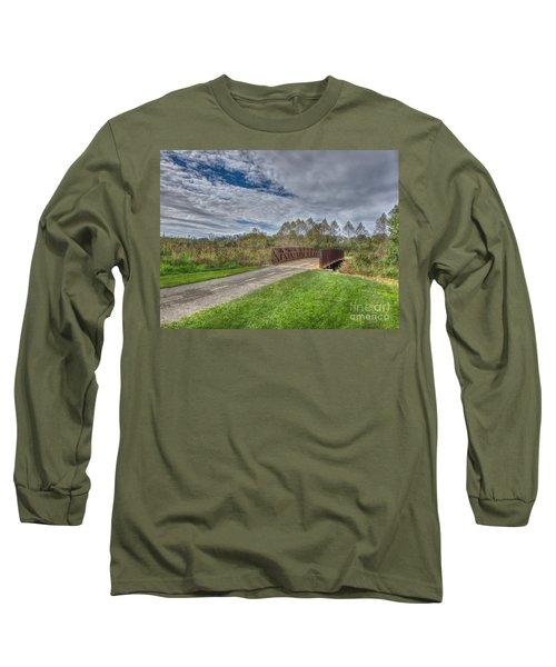 Walnut Woods Bridge - 1 Long Sleeve T-Shirt