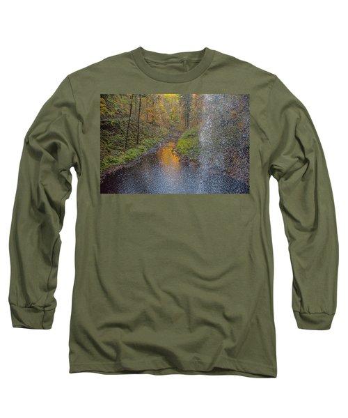Waterfall Waterdrops Long Sleeve T-Shirt