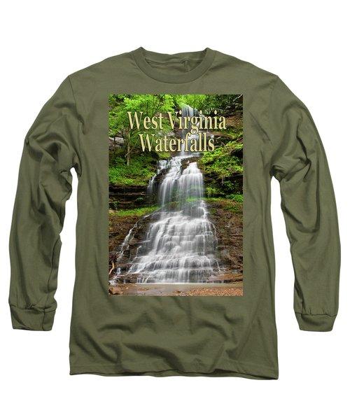 West Virginia Waterfalls Poster Long Sleeve T-Shirt