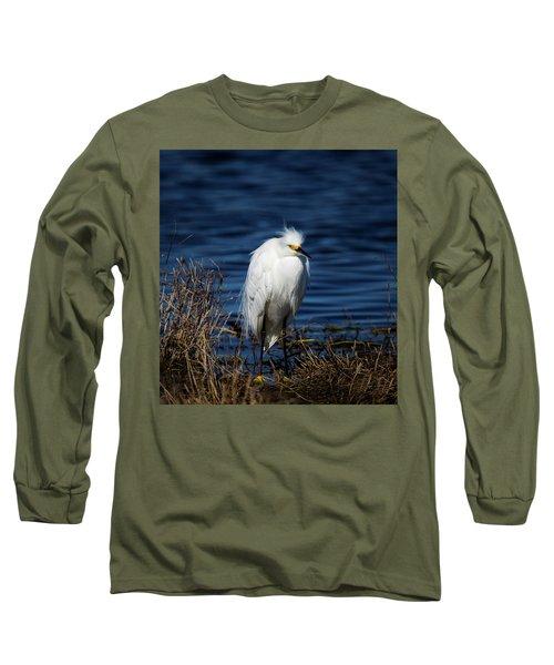 White Egret Long Sleeve T-Shirt