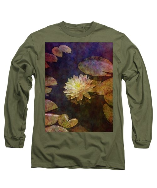 White Lotus Lily Pond 2938 Idp_2 Long Sleeve T-Shirt