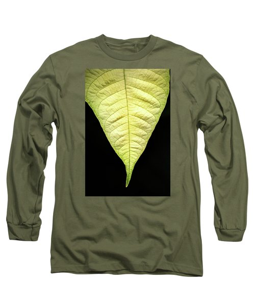 White Poinsettia Leaf Long Sleeve T-Shirt