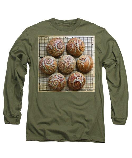 Whole White Wheat, Flax And Rye Sourdough X 7 Long Sleeve T-Shirt
