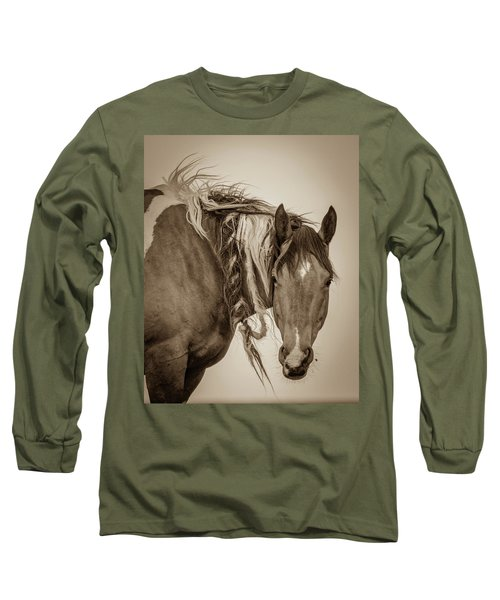 Long Sleeve T-Shirt featuring the photograph Wild Braids by Mary Hone