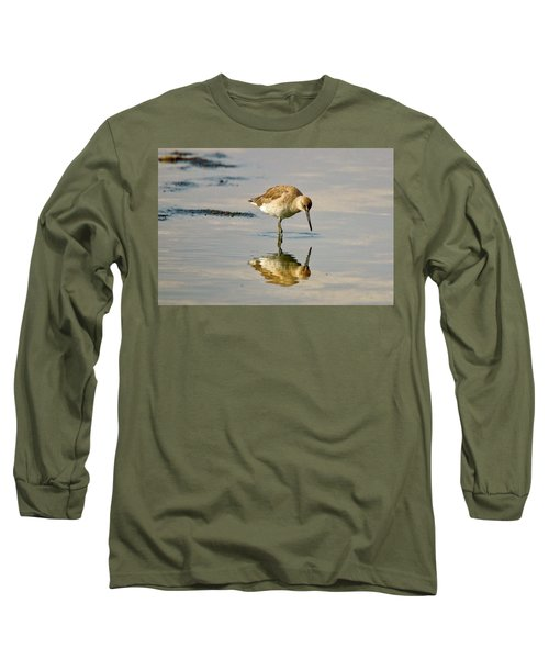 Willet Sees Its Reflection Long Sleeve T-Shirt