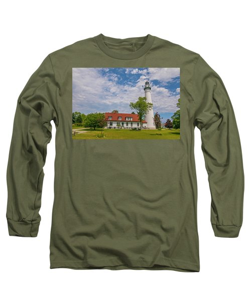 Wind Point Lighthouse  Long Sleeve T-Shirt