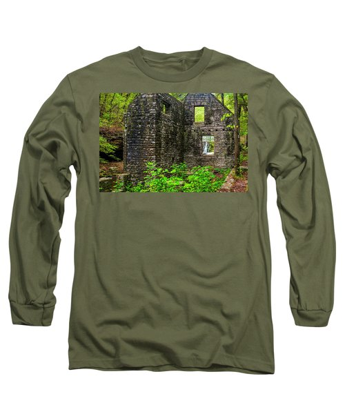 Long Sleeve T-Shirt featuring the photograph Window To The Waterfall by Andy Crawford