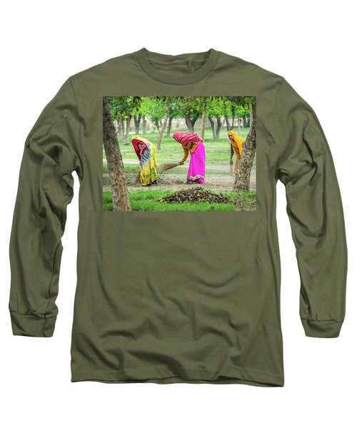 Woman In The Garden Long Sleeve T-Shirt