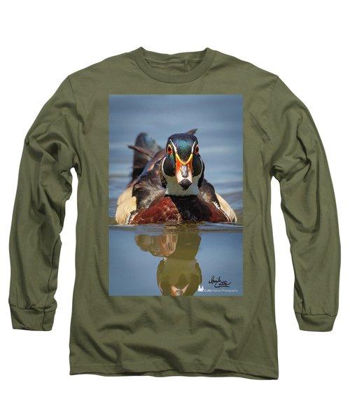Wood Duck Face First Long Sleeve T-Shirt