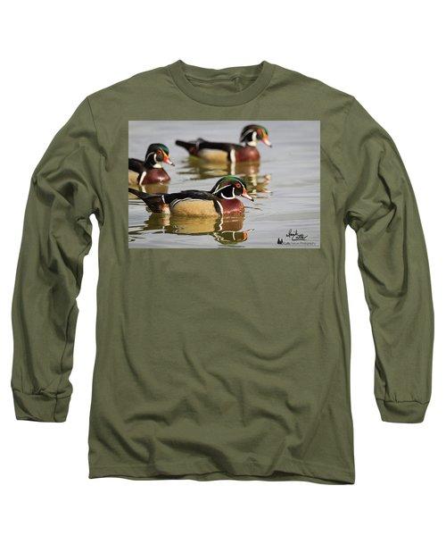 Wood Duck Threesome Long Sleeve T-Shirt