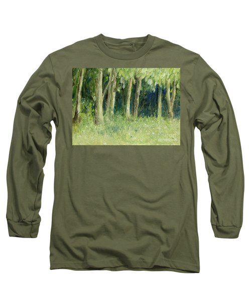 Woodland Tree Line Long Sleeve T-Shirt