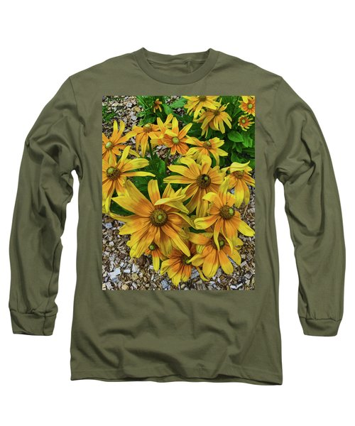 Yellow In Bloom Long Sleeve T-Shirt