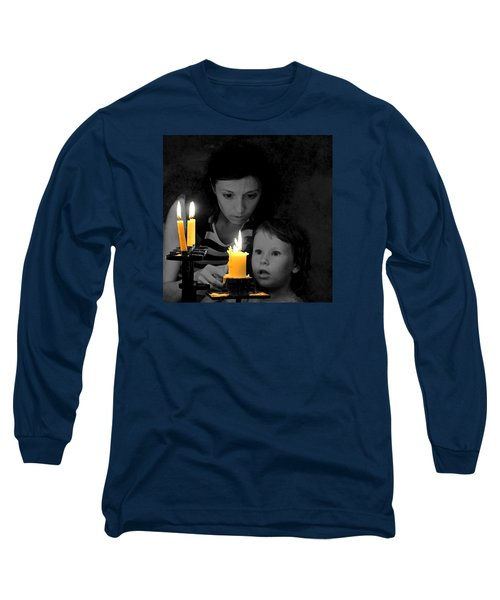 Long Sleeve T-Shirt featuring the photograph .  .  Light For Peace  .  . by I'ina Van Lawick
