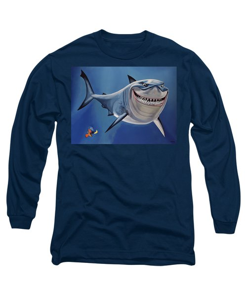 Finding Nemo Painting Long Sleeve T-Shirt by Paul Meijering