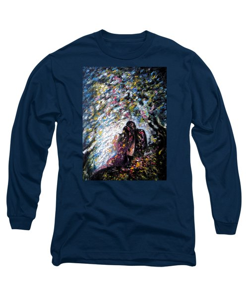 Long Sleeve T-Shirt featuring the painting  Love In Niagara Fall by Harsh Malik