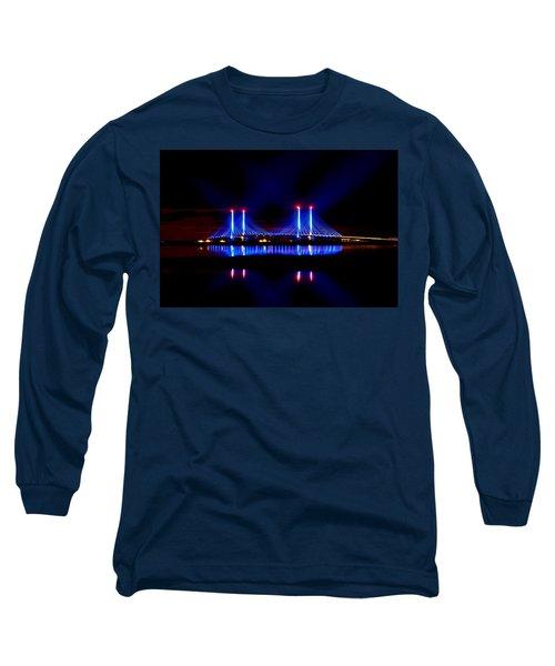 Reflecting Bridge - Indian River Inlet Bridge Long Sleeve T-Shirt