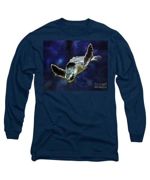 Long Sleeve T-Shirt featuring the photograph  Sea Turtle by Savannah Gibbs