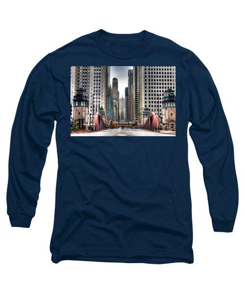 0295b Lasalle Street Bridge Long Sleeve T-Shirt