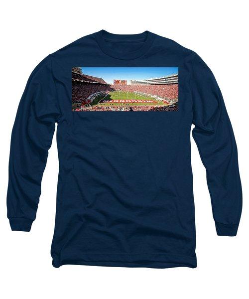 0812 Camp Randall Stadium Panorama Long Sleeve T-Shirt