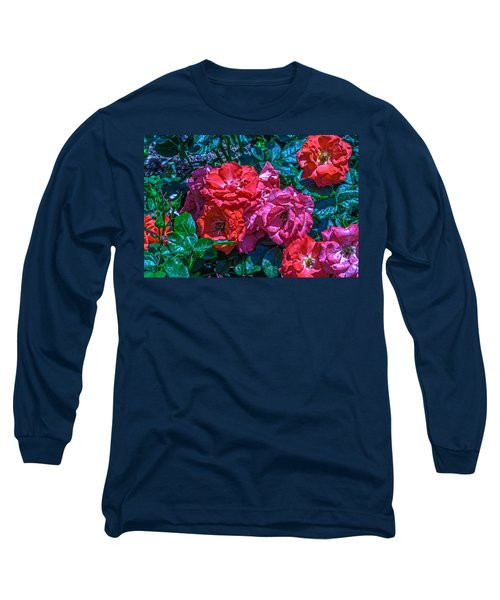 A Rose Is A Rose Long Sleeve T-Shirt by Richard J Cassato