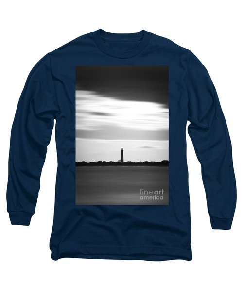 Cape May Lighthouse Vertical Long Exposure Long Sleeve T-Shirt