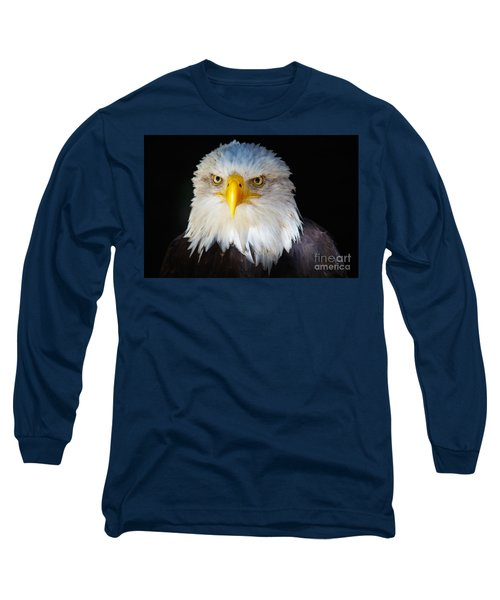 Closeup Portrait Of An American Bald Eagle Long Sleeve T-Shirt