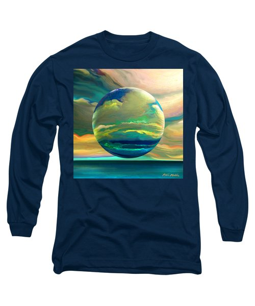 Long Sleeve T-Shirt featuring the digital art Clouding The Poets Eye by Robin Moline