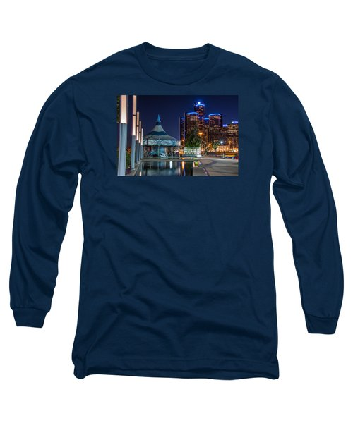 Detroit Riverwalk  Long Sleeve T-Shirt