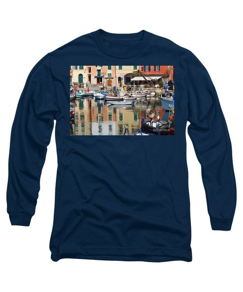 fishing boats in Camogli  Long Sleeve T-Shirt