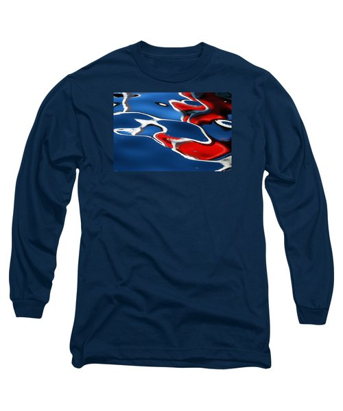 Floating On Blue 5 Long Sleeve T-Shirt by Wendy Wilton