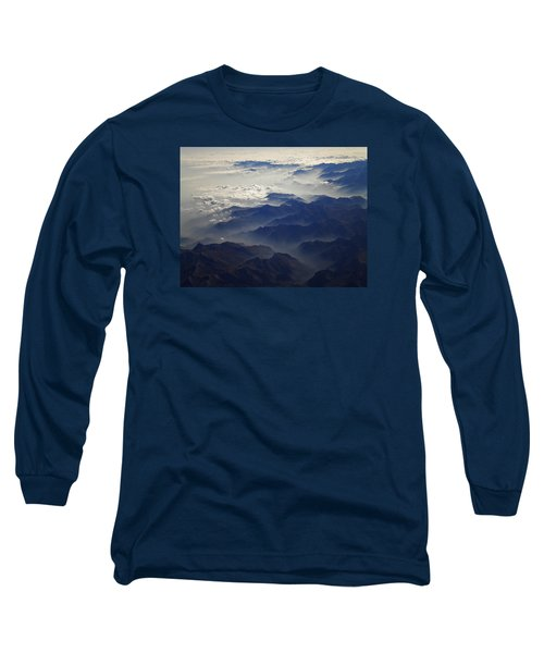 Flying Over The Alps In Europe Long Sleeve T-Shirt by Colette V Hera  Guggenheim