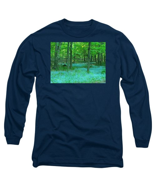 Forget-me-nots In Peninsula State Park Long Sleeve T-Shirt by David T Wilkinson