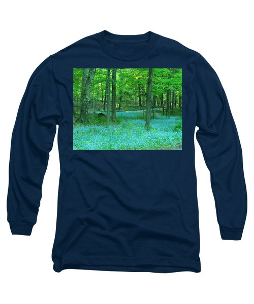 Forget-me-nots In Peninsula State Park Long Sleeve T-Shirt