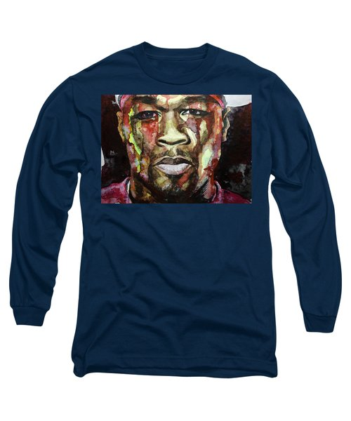 Long Sleeve T-Shirt featuring the painting Get Rich Or Die Tryin' by Laur Iduc