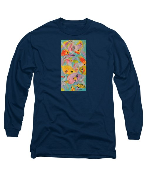 Long Sleeve T-Shirt featuring the painting Great Barrier Reef Fish by Lyn Olsen