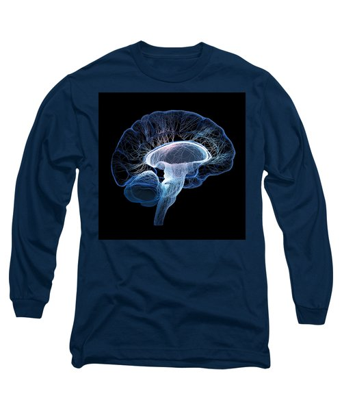 Human Brain Complexity Long Sleeve T-Shirt by Johan Swanepoel
