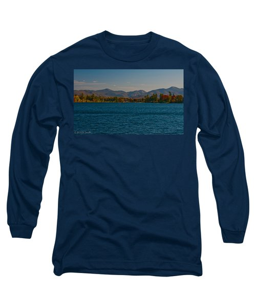 Lake Placid And The Adirondack Mountain Range Long Sleeve T-Shirt