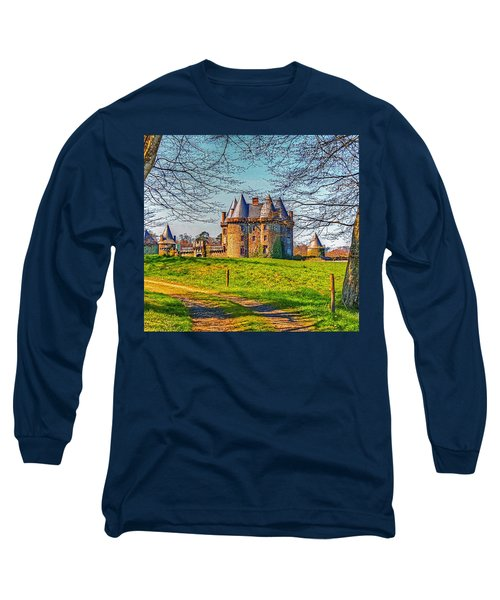 Long Sleeve T-Shirt featuring the photograph Chateau De Landale by Elf Evans