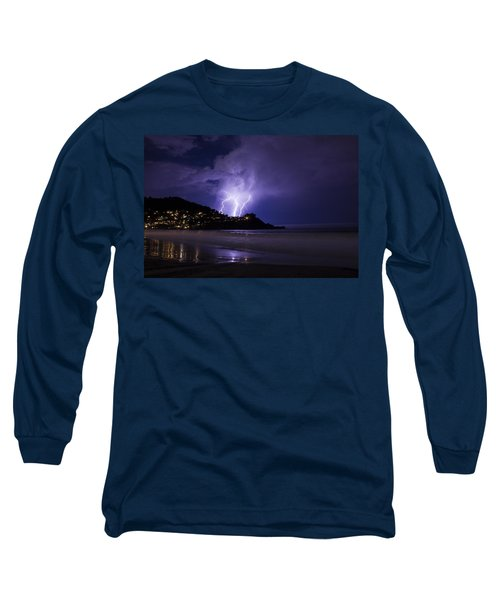 Lightning Over The Ocean Long Sleeve T-Shirt
