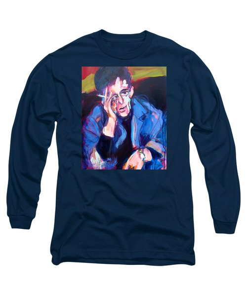 Lou Reed Long Sleeve T-Shirt by Les Leffingwell
