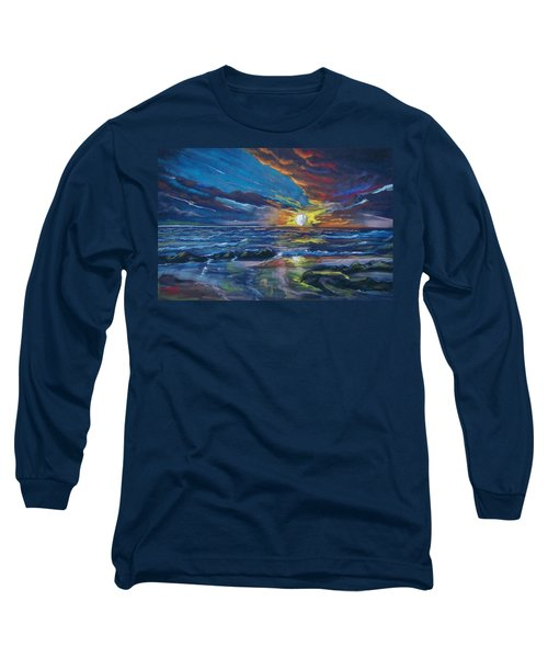 Never Ending Sea Long Sleeve T-Shirt by Peter Suhocke